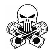 Punisher-pistons-Laptop-Car-Truck-Vinyl-Decal-Window-Sticker-PV247