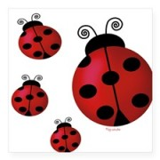 four_ladybugs_rectangle_sticker